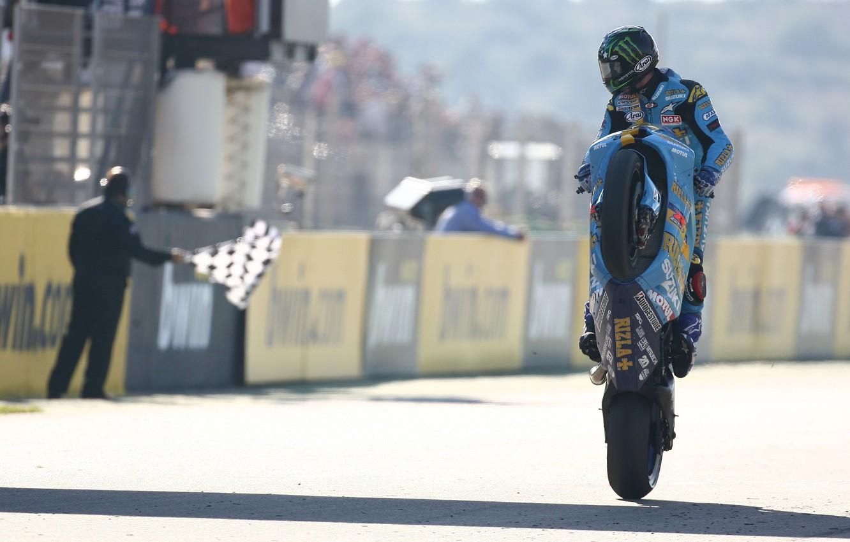 Photo wallpaper Wallpaper, race, sport, Moto, flag, motorcycle, wallpaper, racer, John Hopkins, for the buck, finish, Rizla …