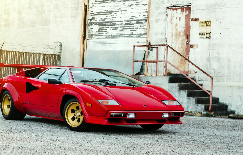 Photo wallpaper Lamborghini, Lamborghini, Countach, Bertone, 1982, LP5000 S