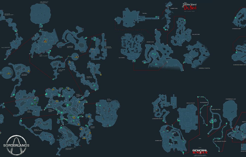 Wallpaper map Borderlands detailed images for desktop section