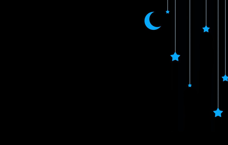Photo wallpaper stars, blue, the moon, black, sudochki