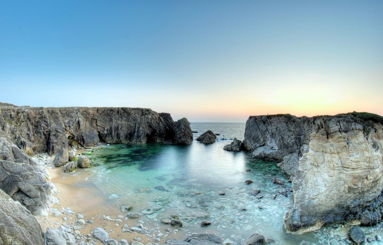 Wallpaper Beach Rocks France Quiberon Peninsula Images