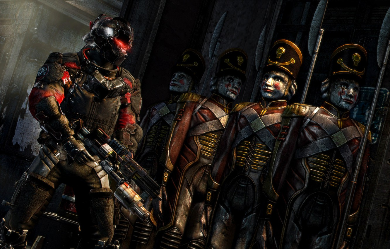 Photo wallpaper Weapons, Armor, Dead Space 3, John Carver, Dead Space, Tin Soldiers