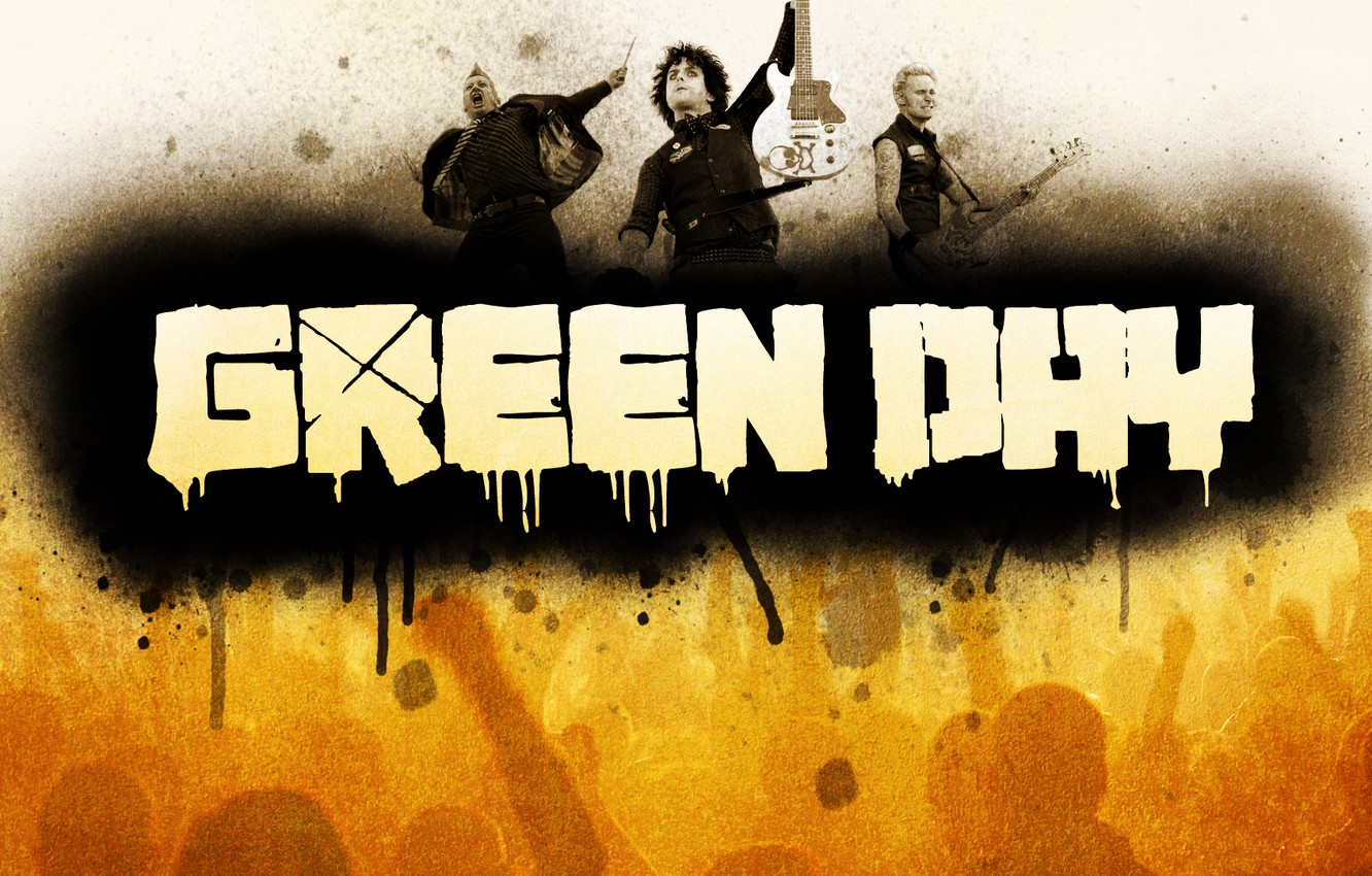 Photo wallpaper music, green, Wallpaper, punk, group, music, rock, rock, wallpapers, day, 1920x1080, punk, Billie Joe Armstrong, …