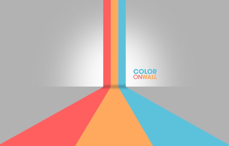 Photo wallpaper color, line, strip, minimalism, lines