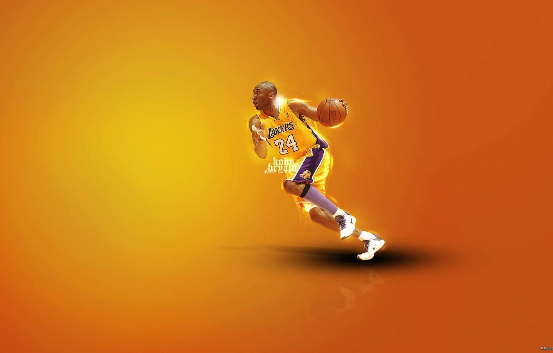 Wallpaper Basketball Nba Kobe Bryant Black Mamba Dribbling