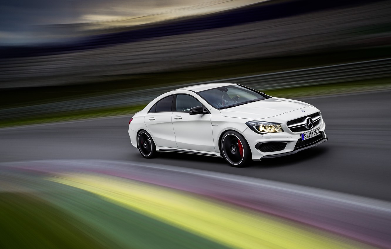 Photo wallpaper Speed, Mercedes, Benz, Car, Car, Speed, AMG, CLA 45