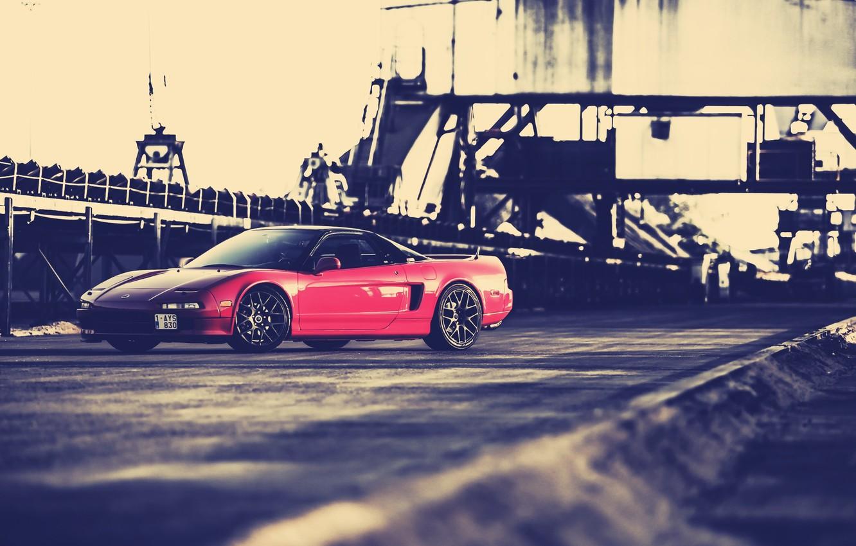 Photo wallpaper car, red, honda nsx