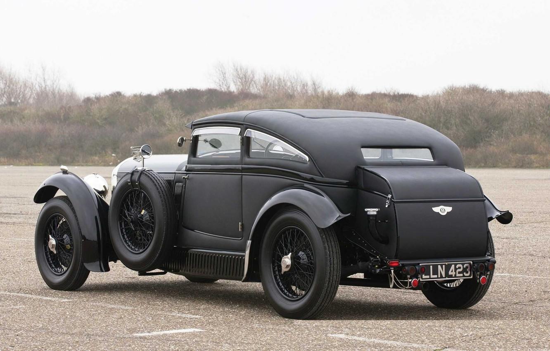 Photo wallpaper Bentley, 1931, 1930, Speed 6, Back Side, Bentley Speed Six, Speed Six, Blue Train, Blue …