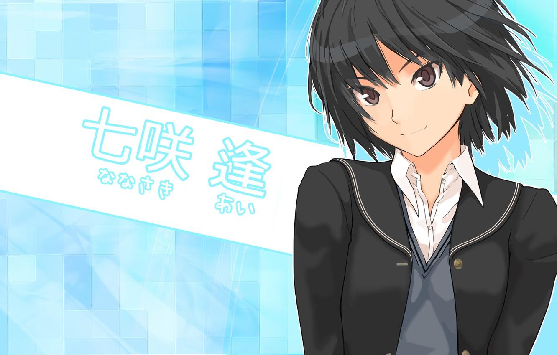 Photo wallpaper anime, art, girl, schoolgirl