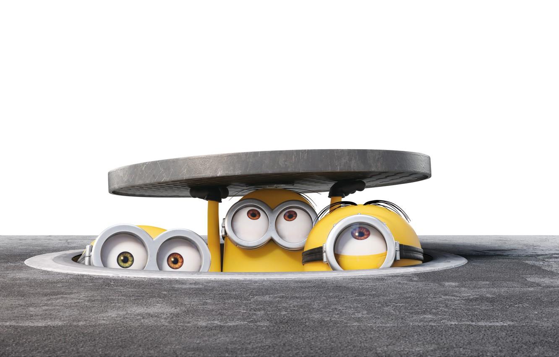 Photo wallpaper cartoon, the situation, characters, Luke, Sewerage, Minions, Minions
