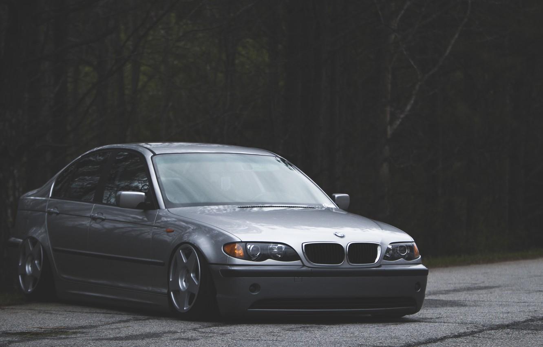 Photo wallpaper BMW, BMW, three, Drives, 3 series, Stance, E43
