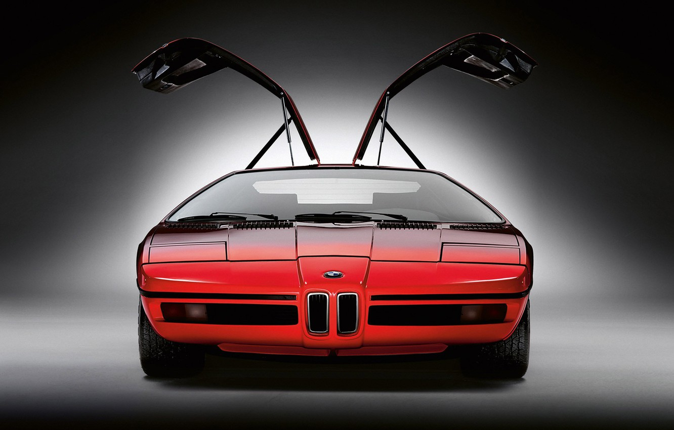 Photo wallpaper red, concept, BMW, turbo