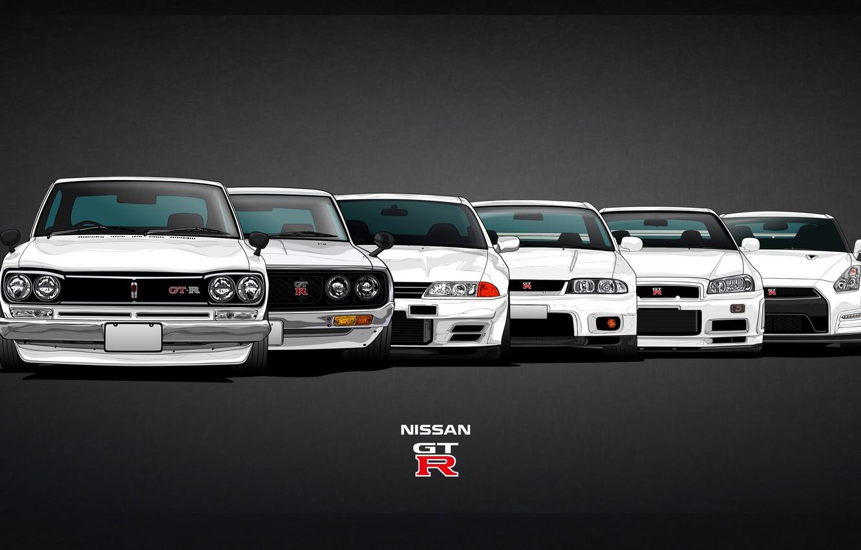 Photo wallpaper Machine, Nissan, GTR, Nissan, GT-R, Car, Evolution, 2000, R32, Coupe, Skyline, Evolution, R35, R34, Skyline, …