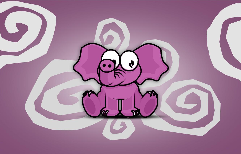 Photo wallpaper spiral, Pink, Elephant, Spirale, Elefant, rosa