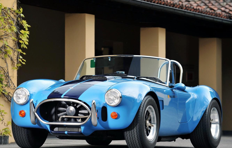 Photo wallpaper blue, retro, Roadster, Ford, Ford, Cobra, Roadster, Cobra