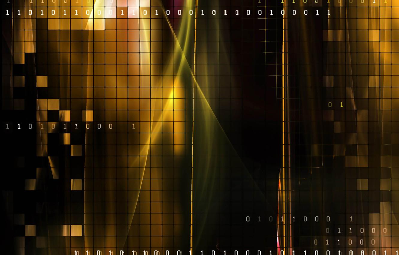 Photo wallpaper one, figures, cells, zero