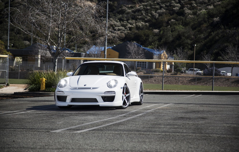 Photo wallpaper tuning, Porsche, Carrera S, the newly-fallen snow, Misha Designs
