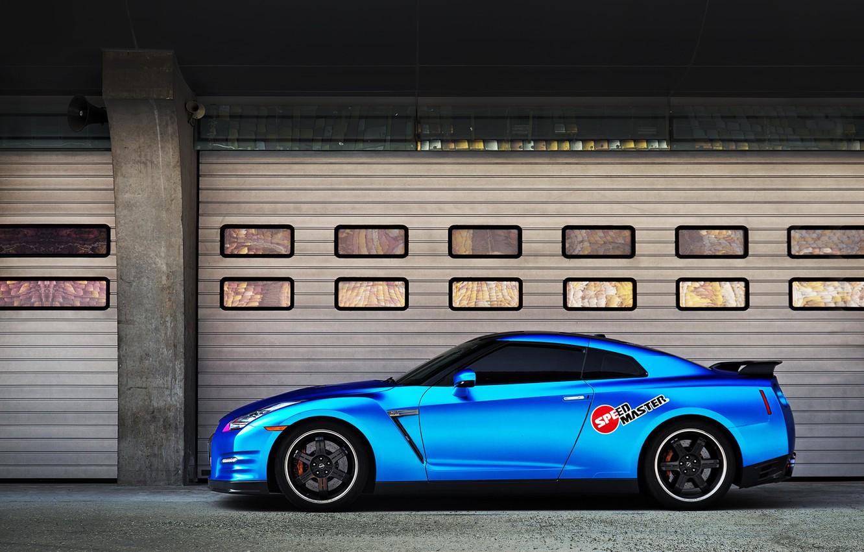Photo wallpaper car, blue, Nissan, rechange, nissan gt-r