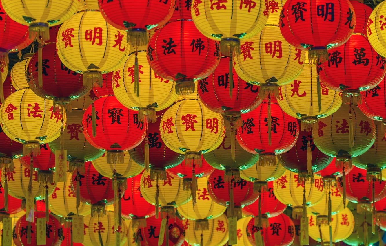 Photo wallpaper Japan, lanterns, Becky's