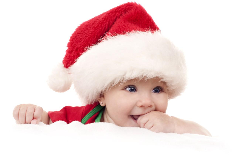 Photo wallpaper joy, holiday, child, cap, blue-eyed