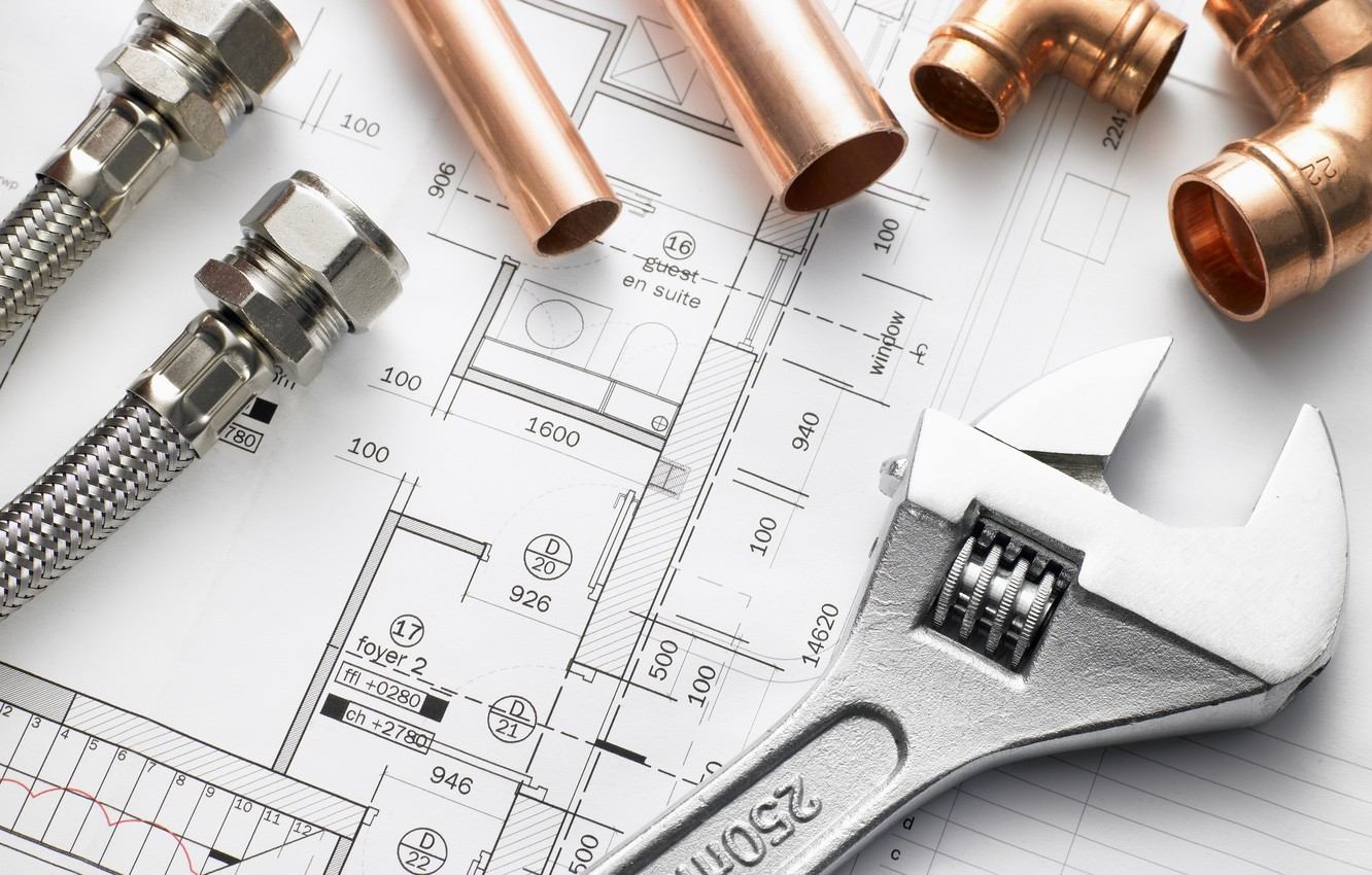 Photo wallpaper metal, architecture, bronze, construction, engineering, pipes, hand tool