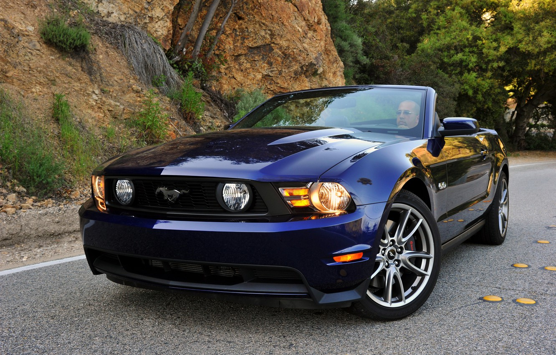 Photo wallpaper Mustang, Ford, Mustang, convertible, 2010, Ford, Convertible