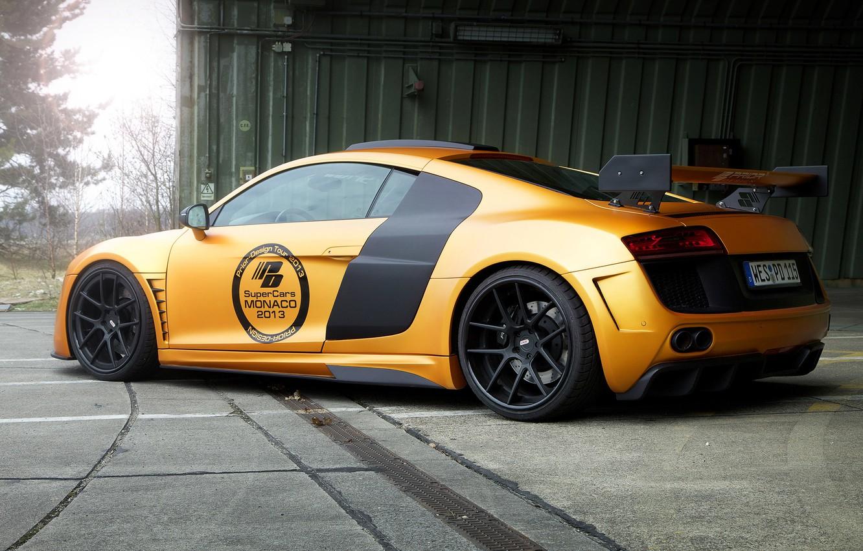 Photo wallpaper Audi, Audi, tuning, supercar, gold, GT850, Prior-Design