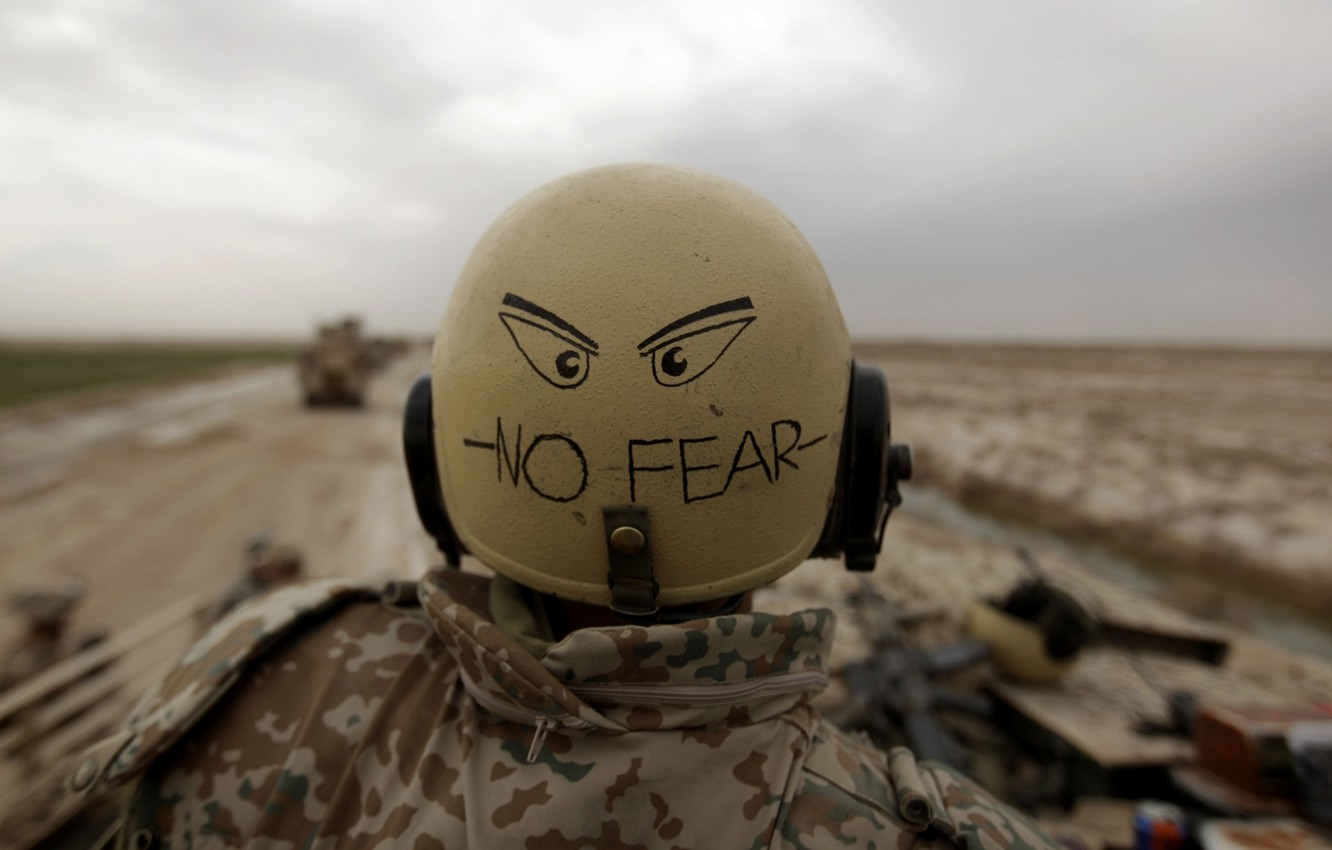 Photo wallpaper Soldiers, Military, Military, No Fear