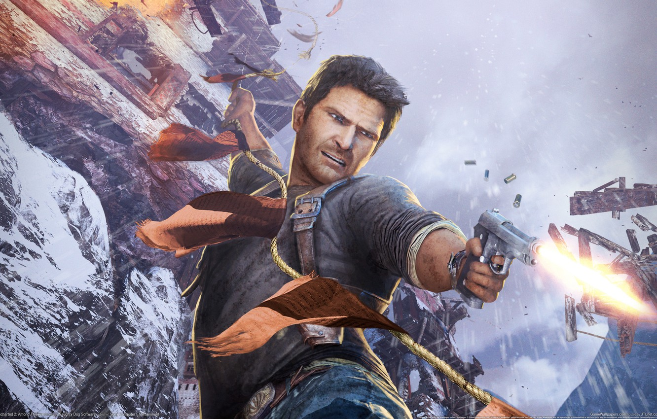 Wallpaper Gun Nathan Drake Among Thieves Uncharted 2 Images For