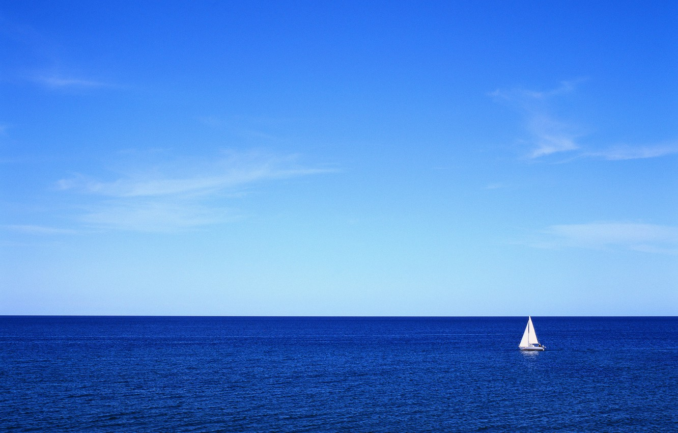 Photo wallpaper sea, the sky, yacht, sail