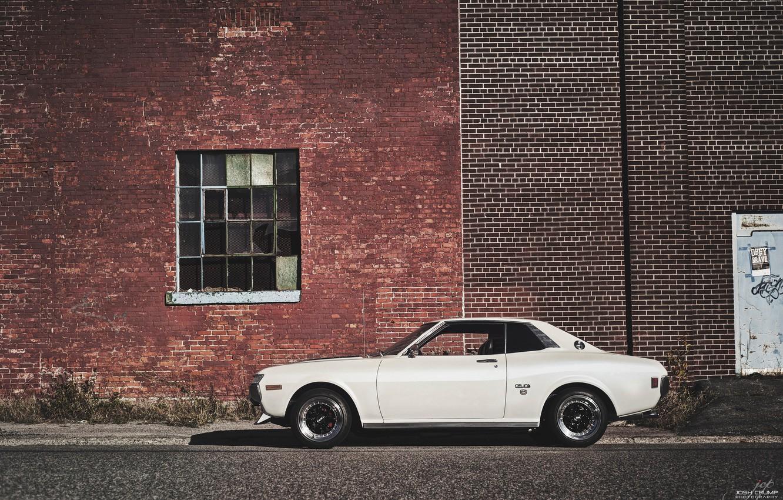 Photo wallpaper white, Toyota, 1974, Celica GT