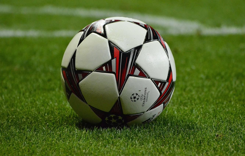 Photo wallpaper lawn, the ball, focus, football HD, barclays premier league