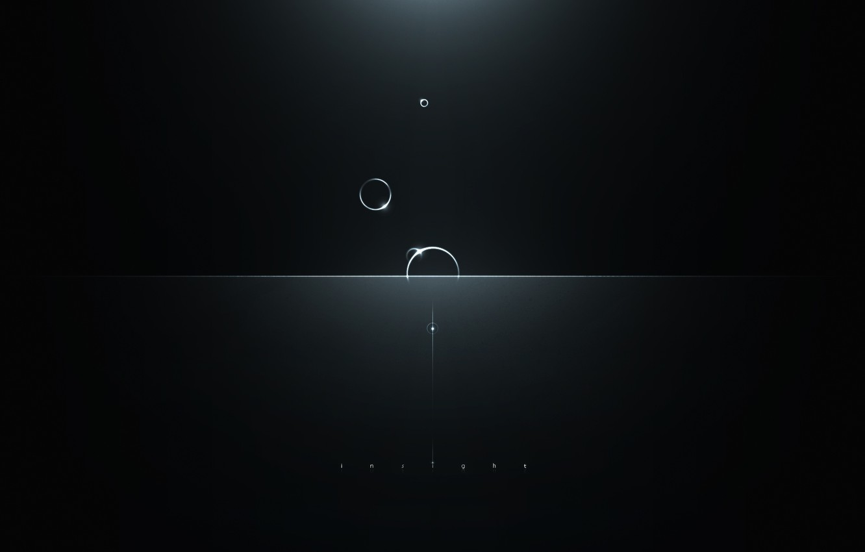 Photo wallpaper light, circles, glare, Insight