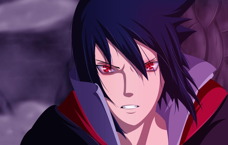 Photo wallpaper Naruto, look., akatsuki, sharingan, Uchiha Sasuke