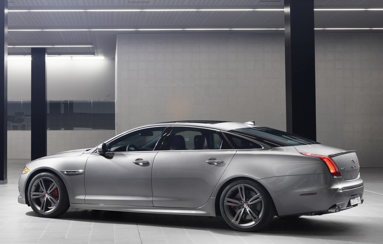 Photo wallpaper Jaguar, door, car, side view, XJR