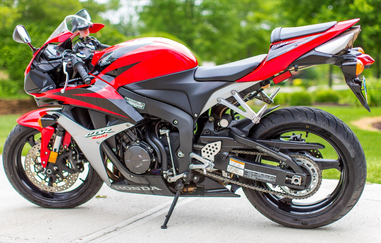Photo wallpaper red, motorcycle, Honda, bike, sportbike