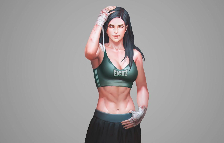 Photo wallpaper power, sport, Mike, sport, girl, muscle, Fighter