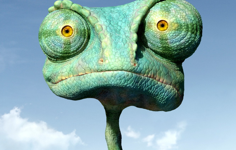 Photo wallpaper chameleon, cartoon, Rango