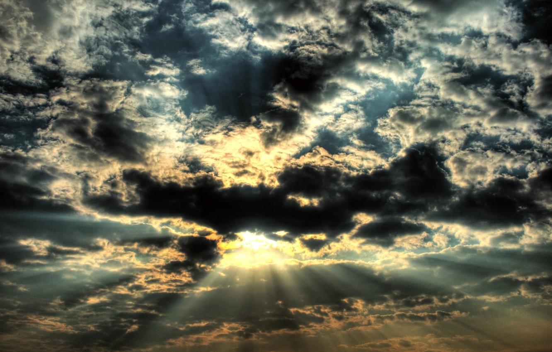 Photo wallpaper sky, cloud, sun
