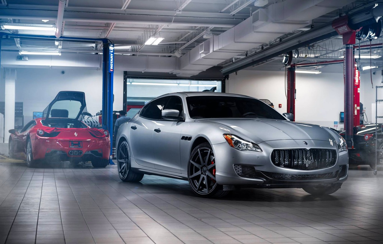 Photo wallpaper Maserati, Front, GranTurismo, Wheels, Garage, ADV.1