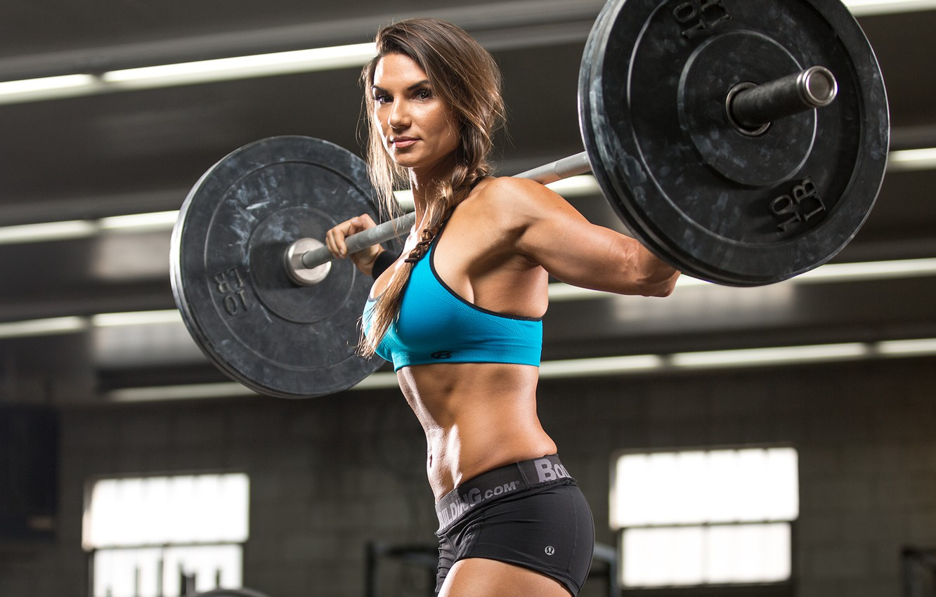 Photo wallpaper look, female, workout, fitness
