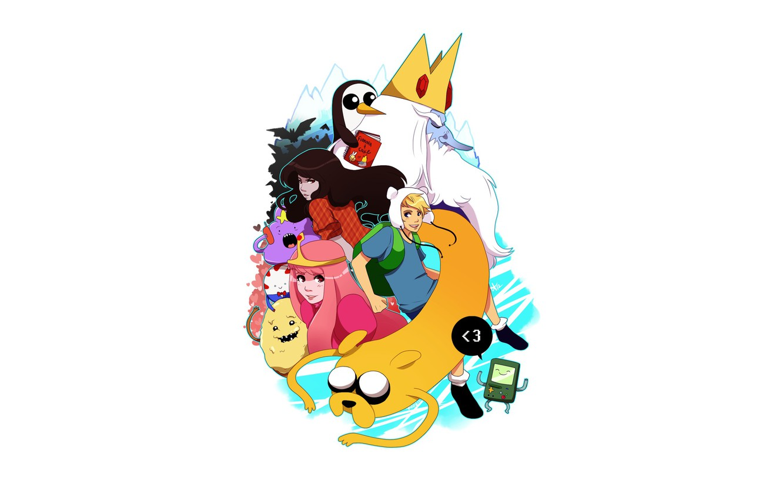 Photo wallpaper Anime, Anime, Jake, Jake, Adventure Time, Adventure Time, Marceline, Finn, BMO, Finn, It's Adventure Time