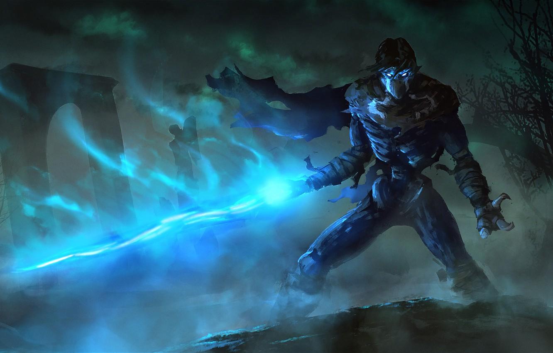 Photo wallpaper fog, magic, art, claws, cloak, Raziel, Legacy of Kain