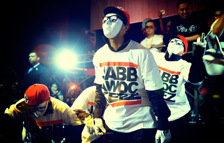 Photo wallpaper mask, glasses, gloves, dancing, jabbawockeez, caps