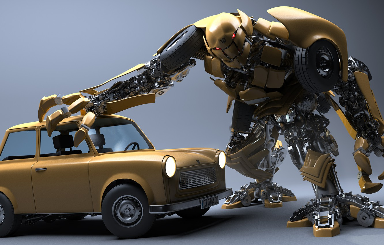 Photo wallpaper robot, transformer, Robot in disguise, mchina