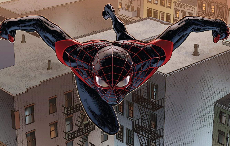 Wallpaper Roof Spider Man Miles Morales Images For Desktop