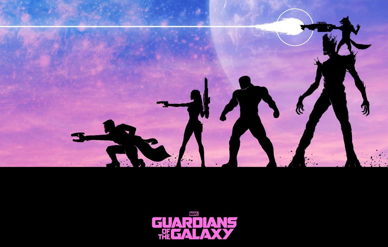 Photo wallpaper Rocket, Guardians Of The Galaxy, Peter Quill, Star-Lord, Guardians of the Galaxy, Gamora, Groot, Drax …