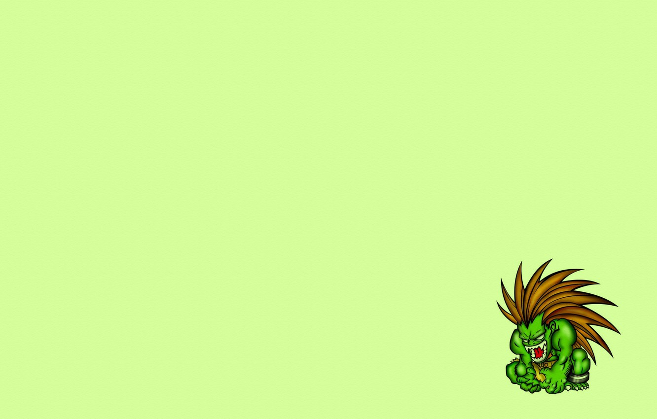 Wallpaper green, minimalism, beast, street fighter, street