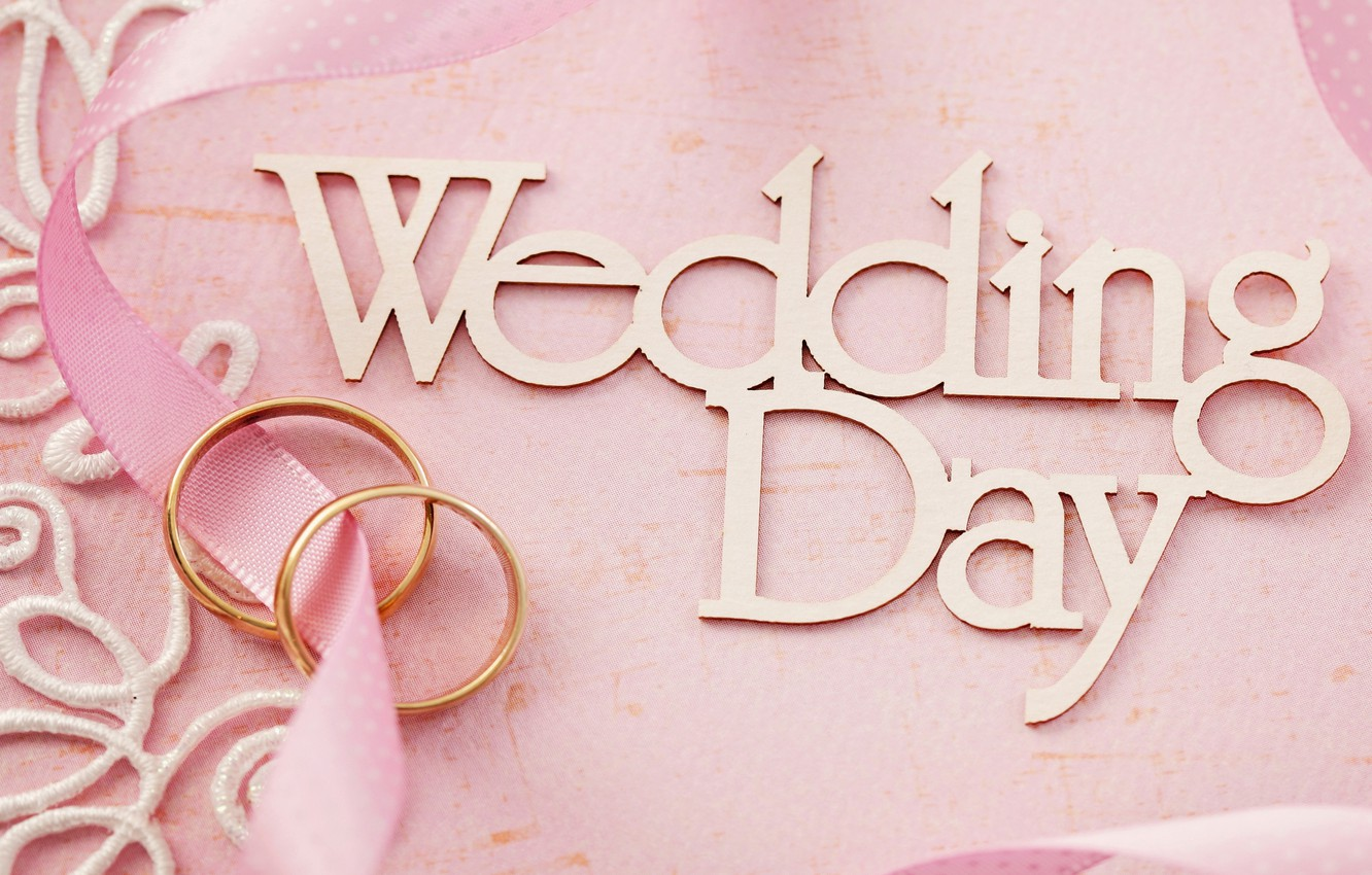 Photo wallpaper flowers, ring, pink, wedding, flowers, background, day, ring, soft, wedding, lace