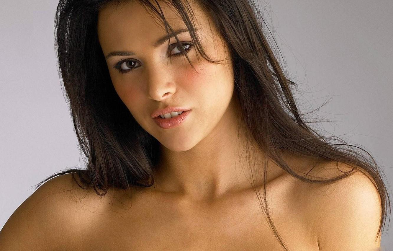 Photo wallpaper girl, Brunette, eyes, beautiful, lips, look